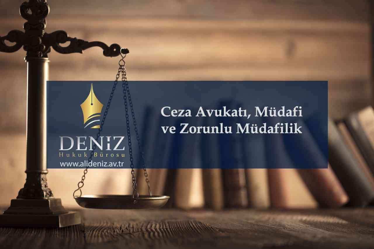 Ceza Avukatı, Müdafi Ve Zorunlu Müdafilik